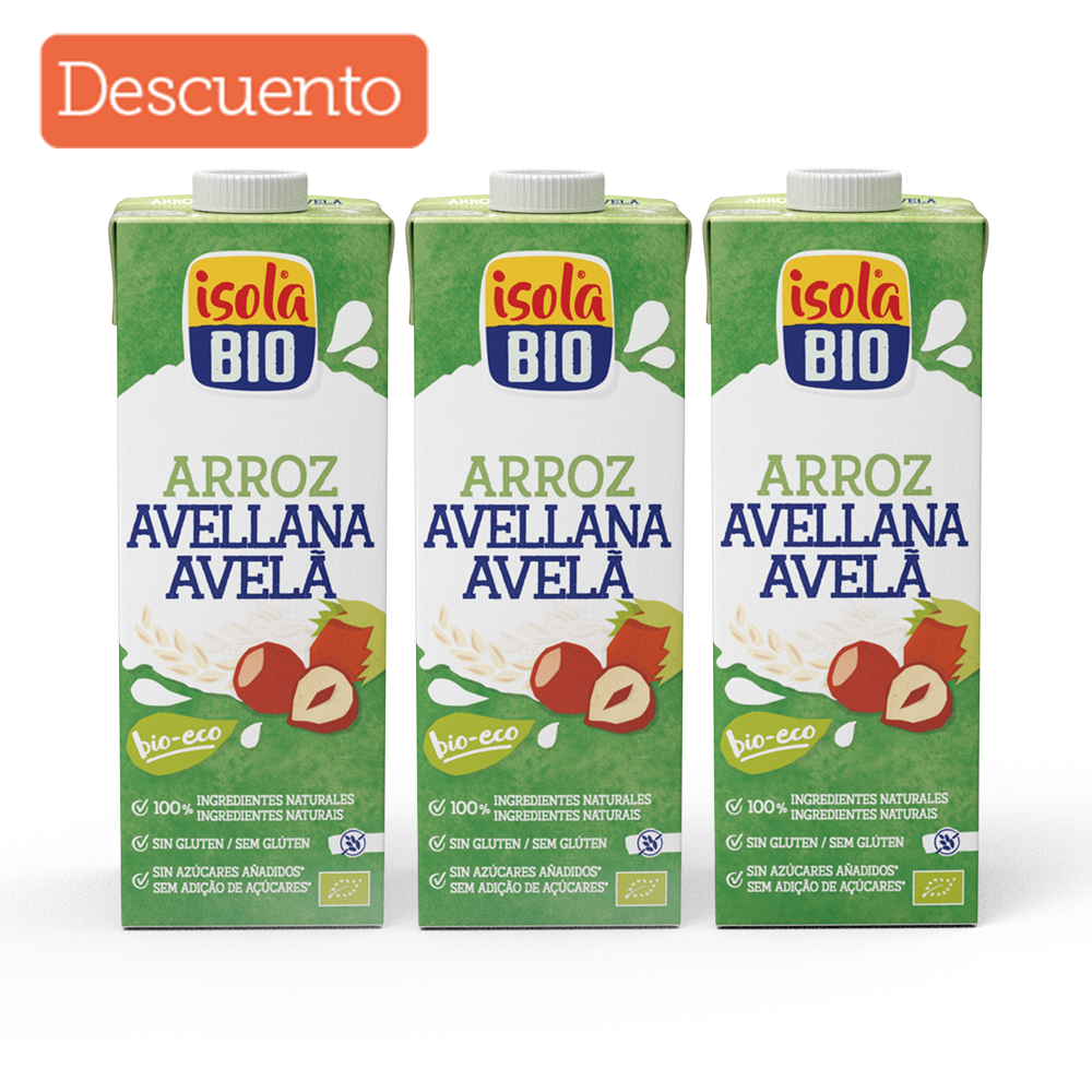 Kit x 3 Bebida de arroz avellana